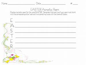 search results for easter acrostic poem template With poetry templates for kids