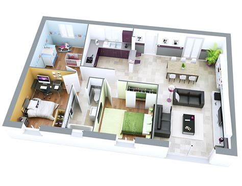 optimiser une cuisine plan maison individuelle modèle sun ardoise top duo