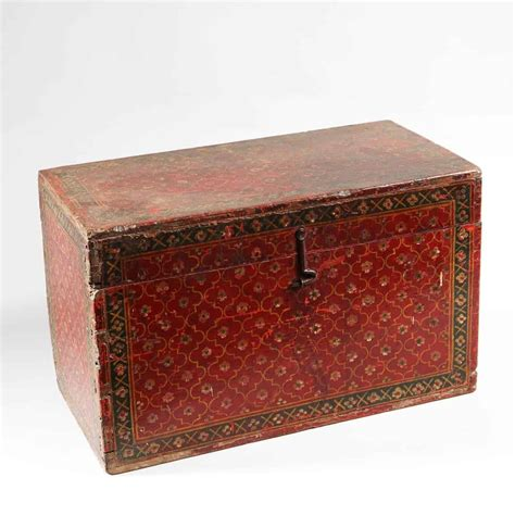 decorative red lacquered indian wooden box nicholas