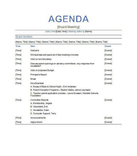 meeting agenda template  meeting agenda template