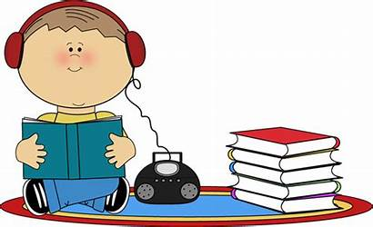 Clipart Reading Listening Library Child Clip Center