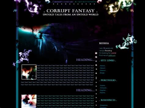 website templates fantasy fantasy website templates