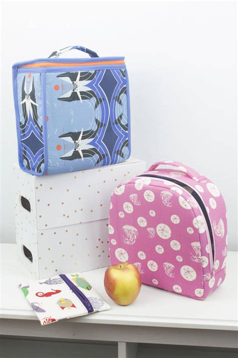lunch bag sewing patterns for back to school sew savory