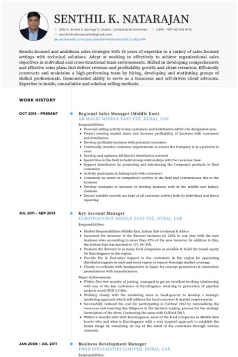 regional sales manager resume sles visualcv resume