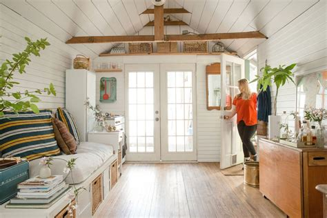 Converting Living Room Into Master Bedroom by Garage Turned Into Small Home Via Refinery29