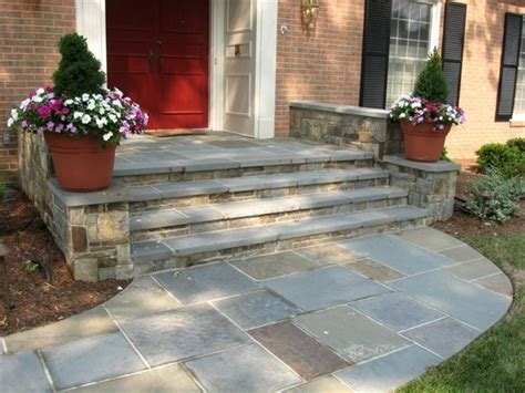 front steps stone walkway and front steps landscaping paving stones pinterest front steps front