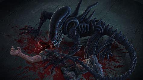 Fanart of my favorite aliens... the XENOMORPH by RedChunks ...