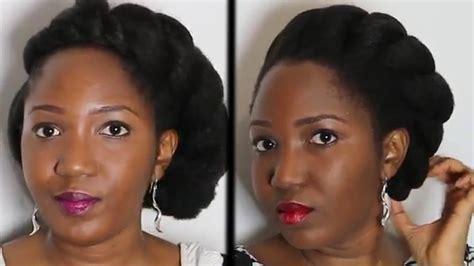 Big side flat-twist  coiffure protectrice en 10 min | Coiffure cheveux cru00e9pus - YouTube