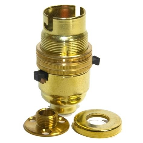 solid brass 10mm switched lholder c w fixing plate cover