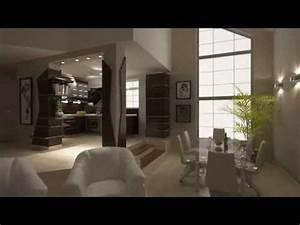Offene Wohnküche Mit Wohnzimmer : furnierte k chenschr nke mit halbinsel offene k che zum wohnzimmer youtube ~ Watch28wear.com Haus und Dekorationen