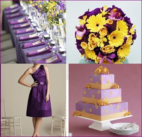 wedding theme purple and yellow wedding color combinations color schemes basics budget brides guide a wedding
