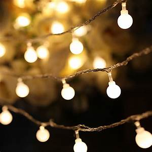 Led, String, Lights, Warm, White, Ball, Fairy, Lights, Waterproof, Decorative, Starry, Lights, For, Bedroom