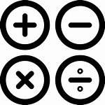 Icon Calculator Symbols Math Buttons Icons Calculation