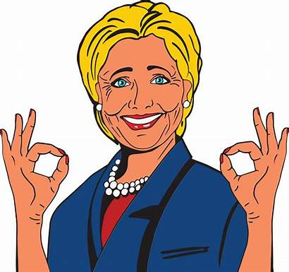 Hillary Clinton Clipart Perfect Svg Gesturing Eps