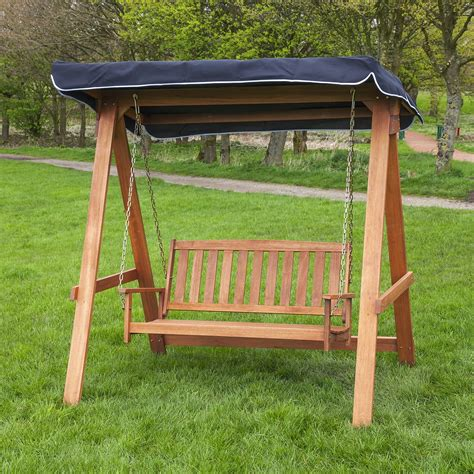 appealing wood patio swings outdoor decorations