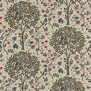 Kelmscott Fabric - Woad/Wine (220327) - William Morris