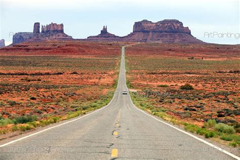 Photo Wallpaper Route 66 Desert Landscapes Wall Murals Wall Murals Posters Monument Valley Route 66