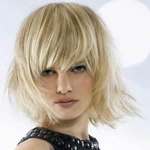 Coupe Cheveux Avec Frange : coupe de cheveux femme mi long avec frange ~ Nature-et-papiers.com Idées de Décoration