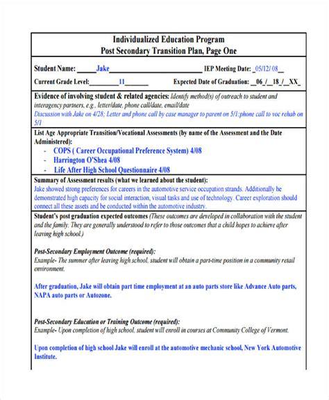 transition plan examples 10 transition plan examples samples