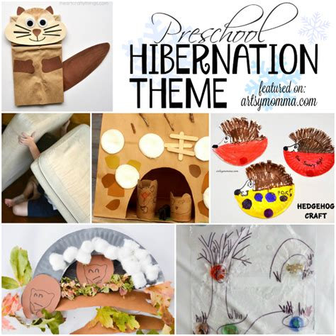 preschool hibernation theme activities artsy momma 413   Preschool Hibernation Theme