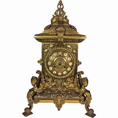 Clock Antique Greek Brass French Neo Figural