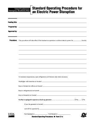 Standard Operating Procedure Template Word Forms