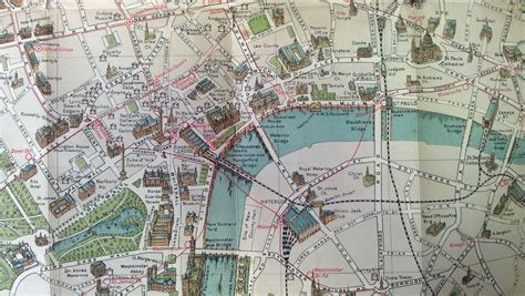 bacons picture map  london mapping london