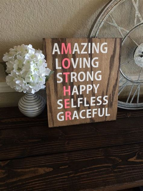 reclaimed wood mother sign  wtgdesigns  etsy share