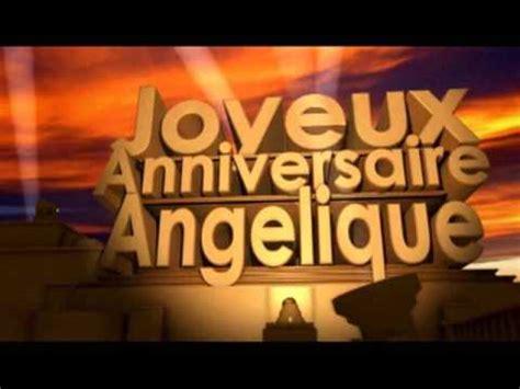 joyeux anniversaire angelique youtube