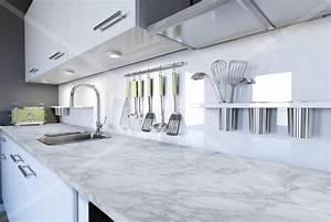 Plan De Travail Cuisine Marbre : adh sif plan de travail marbre blanc brillant marbre 2800 luminis films ~ Melissatoandfro.com Idées de Décoration