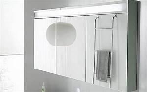armoire de toilette design trevise de decotec avec 3 With miroir 3 faces salle de bain