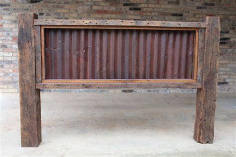 king  queen headboard reclaimed barn wood  rusty