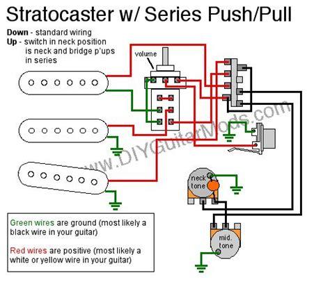 Fender Stratocaster Hs Wiring Diagram Push Pull by Sratocaster Series Push Pull Wiring Diagram Electric