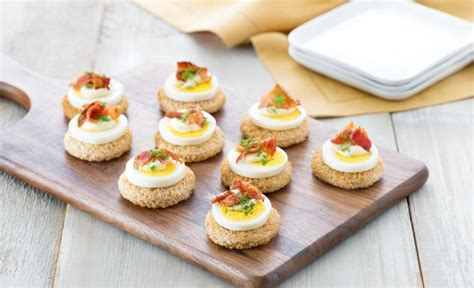 canape oeuf recipes egg and bacon canapés eggs ca