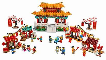 Lego Chinese Temple Fair Lion Dance Coming