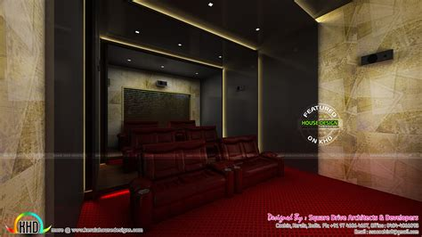 Home theater seating, bedroom dining interior - Kerala