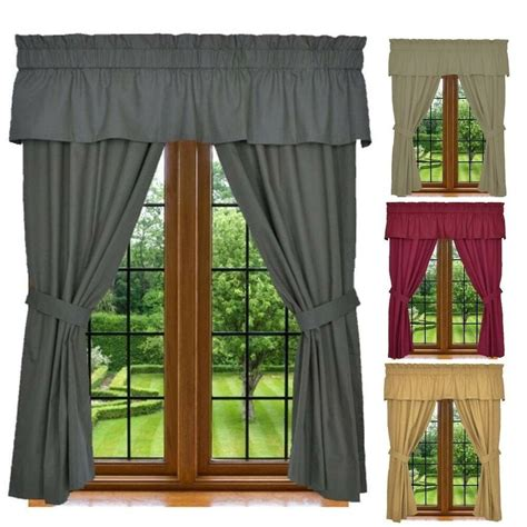 drapery sets window curtain set 5 set includes 2 panels 1