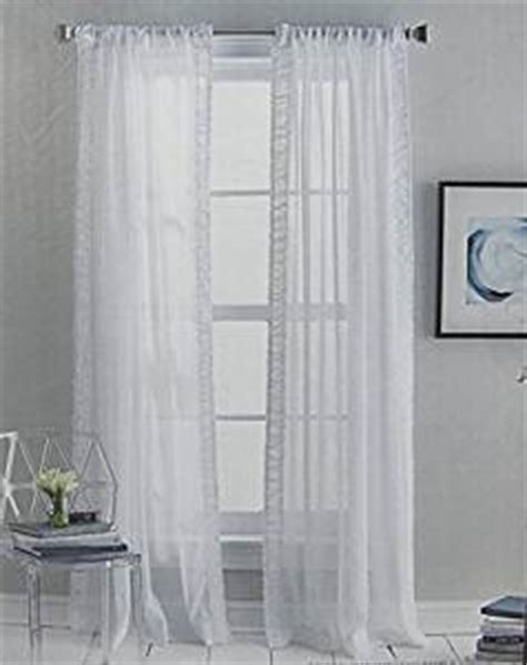 Dkny Sheer Curtain Panels by Dkny City Ruching Set Of 2 Window