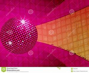Pink Disco Ball Funky Background Stock Vector ...