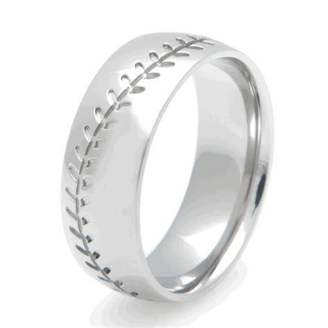 Titanium Baseball Ring, Sports Wedding Rings  Titanium. Twist Bangles. Onyx Gemstone. Bluestone Pendant. Ruby Red Diamond. Model Necklace. Vancaro Rings. Professional Necklace. Olivine Gemstone