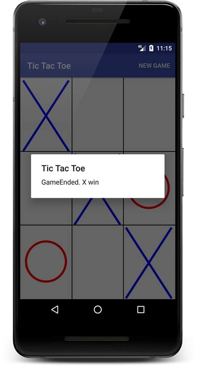 learn  create  tic tac toe game  android