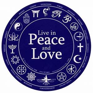 Live in Peace and Love Round Sticker 6 inch diameter ...
