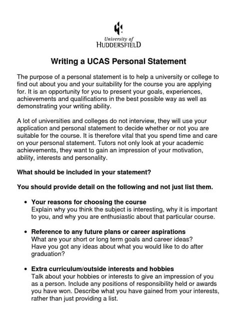 personal statement  financial position template
