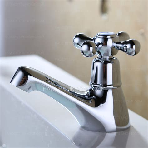 Small Faucets by Small Single Cross Handle Cold Water Bathroom Sink Faucet