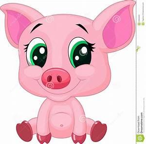 Cute Cartoon Pig Clipart - Clipart Suggest