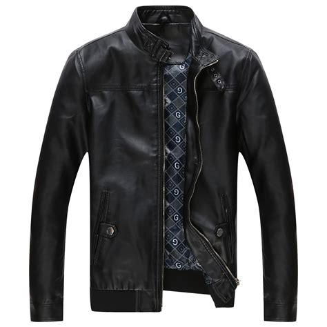 casual motorcycle high quality men 39 s leather jacket motorcycle clothing