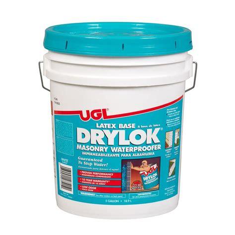 drylok floor paint home depot drylok 5 gal base masonry waterproofer 27215 the