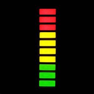 Triple 3 Color Led Light Bar Array 10 Segment Bar Graph