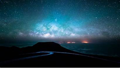 Sky Stars Landscape Night Road Path Wallpapers