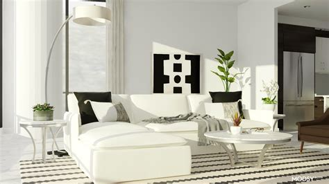 Fresh And Bright Contemporary Contemporary Style Living